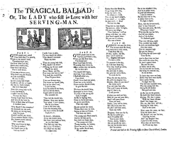 An 18th century broadside ballad