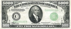 James Madison – Series of 1934 $5000 bill