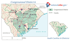 United States House of Representatives, South Carolina District 6 map.png