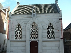 The synagogue in the town of Veghel. The community in Veghel was a small mediene community, which reached its height around 1900. In the years following, the community shrank to some 30 members as people moved to larger cities. All Jews in the town were killed during the Holocaust.