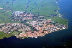 Volendam (on the coast) and Edam (at the back)