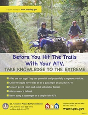 All-terrain vehicle safety poster