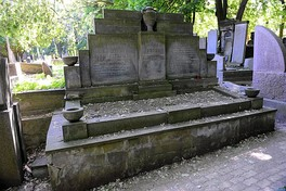 Adam Czerniaków's and his wife's grave at Jewish Cemetery in Warsaw