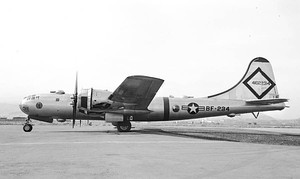 "B-29-95-BW Superfortress, 45-21768, ""Kee Bird"" of the 46th/72d Reconnaissance Squadron.  This aircraft became marooned after making an emergency landing in northwest Greenland during a Cold War strategic reconnaissance mission on 21 February 1947 and was attempted to be recovered in 1995.  The recovery effort failed, and the aircraft was accidentally destroyed in the process."