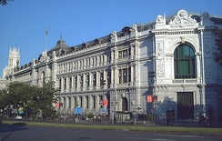 Headquarters of the Bank of Spain, Madrid.