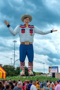 Big Tex, a statue at the Texas State Fair in Fair Park