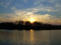Sunset over Blair's Pond