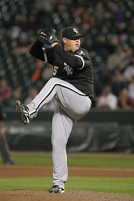 Jenks pitching for the Chicago White Sox in 2008.