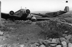 Ju 52s damaged in Crete, 1941