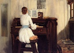 Mrs Chase  Playing the Piano, 1883