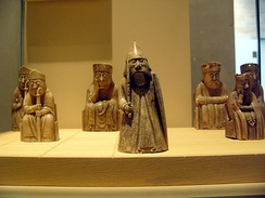 Some of the 11 Lewis chessmen in Edinburgh