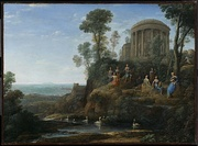 Claude Lorrain, Apollo and the Muses on Mount Helion, 1680