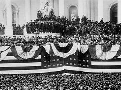 The 1885 inauguration of Grover Cleveland, the only President with non-consecutive terms