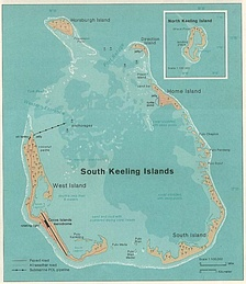 1976 map of South Keeling Islands.