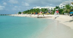 Doctor's Cave Beach Club is a popular destination in Montego Bay.