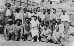 Dorothy Burr Thompson with her excavation crew at the Athenian Agora, 1933