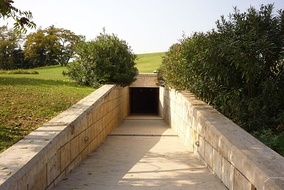 Entrance to the Macedonian tombs of Aigai (modern name Vergina)