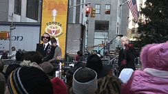 Stewart and Lennox performing on The Today show in 2005.