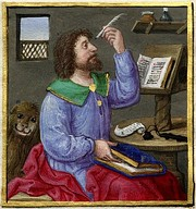 Mark the Evangelist with the  lion, 1524.