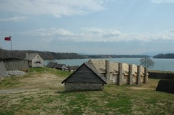 Reconstruction of Fort Loudoun, the first British settlement in Tennessee