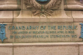 Monument in honor of the Grand Army of the Republic, organized after the war