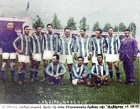 Greek squad for the 1920 Olympics.
