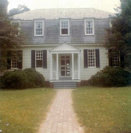 Moore House, location where Cornwallis completed the surrender to George Washington, located near Yorktown, Virginia