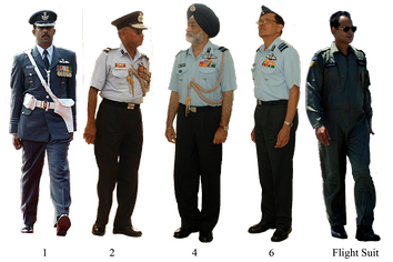 Officers of the IAF in their uniform.