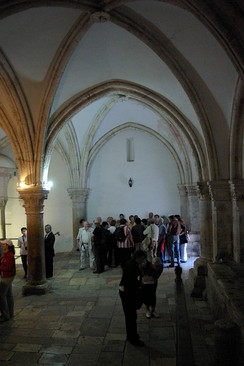 The Cenacle on Mount Zion, claimed to be the location of the Last Supper and Pentecost. Bargil Pixner[84] claims the original Church of the Apostles is located under the current structure.