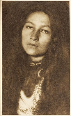 Zitkala-Sa (1876—1938), Yankton author, photographed by Joseph Keiley