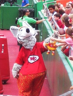 K. C. Wolf, the Chiefs' mascot since 1989