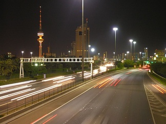 A highway in Kuwait City