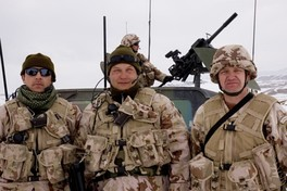 Lithuanian soldiers on the international NATO mission in Afghanistan