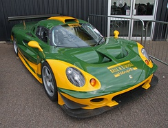 One of six Elise GT1 race cars following restoration