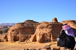 The ancient archaeological site of Mada'in Saleh