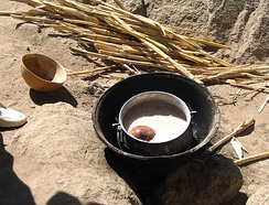 Millet beer in Rhumsiki, Far North Province, Cameroon