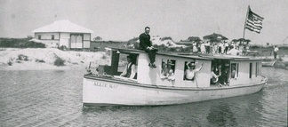 The motorboat Allie May, which transported passengers between Rehoboth Beach and Bethany Beach from 1910 to 1912.[45]