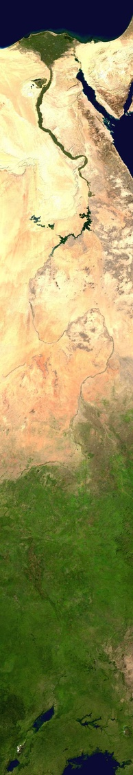 Composite satellite image of the White Nile