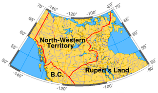 North-Western Territory in 1859