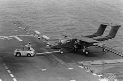 An OV-10A of VMO-1 operating from USS Nassau, 1983