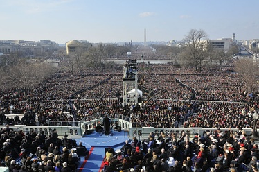 First inauguration of Barack Obama on January 20, 2009 facing west from the Capitol
