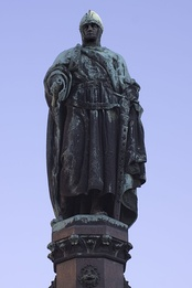 Statue of Otto the Rich in Freiberg, centre of mining in the Ore Mountains