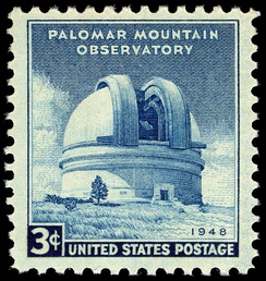 Palomar Mountain Observatory featured on 1948 United States stamp