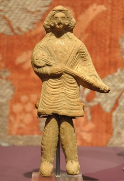 Parthian long-necked lute, c. 3 BC – 3 AD