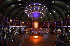 The modified TARDIS set, that debuted in Series 9.