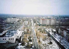 Pripyat, Ukraine, was abandoned after the Chernobyl disaster.