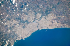 View of Santo Domingo from space, 2010.