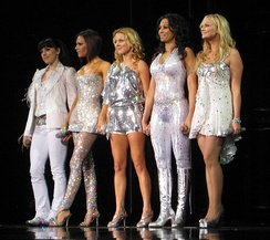 The Spice Girls on stage in 2008