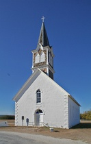 St. Olaf Kirke, constructed in 1884, in Cranfills Gap, Texas.