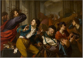 Christ Driving the Moneychangers from the Temple by Theodoor Rombouts